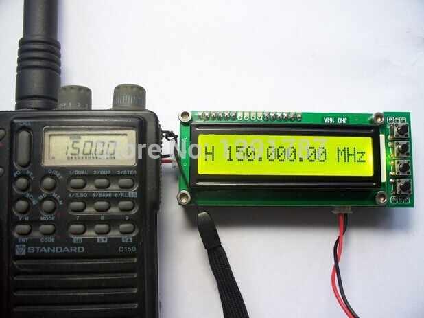 0.1 إلى 1100 MHz 0.1 إلى 1.1 GHz عداد التردد اختبار قياس لراديو لحم الخنزير