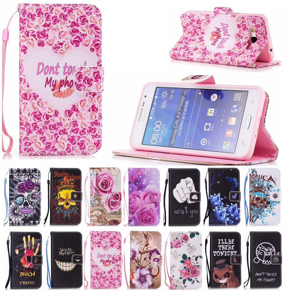 7836ca55734 Grand Prime Cases For Samsung Galaxy Grand Prime G530 Shell Leather Flip  Cover