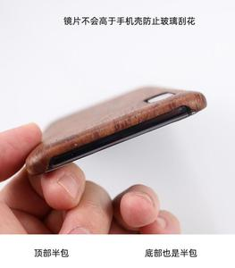 Image 4 - For Meizu 16s /16XS walnut Enony Wood Rosewood MAHOGANY Wooden Slim Back Case Cover
