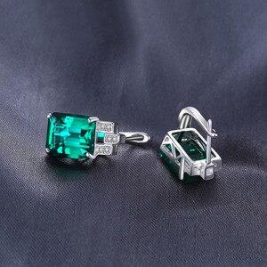 Image 3 - JewelryPalace серьги Для женщин Роскошные 7.6ct создания Изумрудный стерлингового серебра 925 пробы бренд уха ювелирные изделия