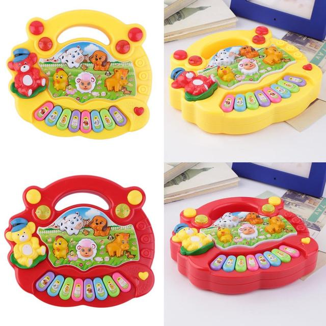 Baby Kids Musical Educational Piano Animal Farm Developmental Music Piano Toy for Child Birthday gift Hot Selling
