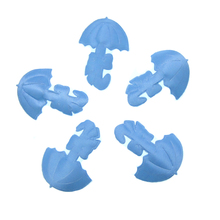 180pcs Fabric Umbrella Baby Shower Favors Blue Boy Satin For Applique/trim/Craft/Decorations 32 x 36mm