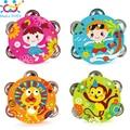 1 pc novo tambor chocalhos de brinquedo do bebê orff crianças musical toys educacional toys pandeiro tambor de mão pandeiro sino huile toys 3102B