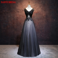 Black Lace Mother of the Bride Dresses Gowns for Weddings Crystal Bridal Formal Godmother Groom Long Dresses