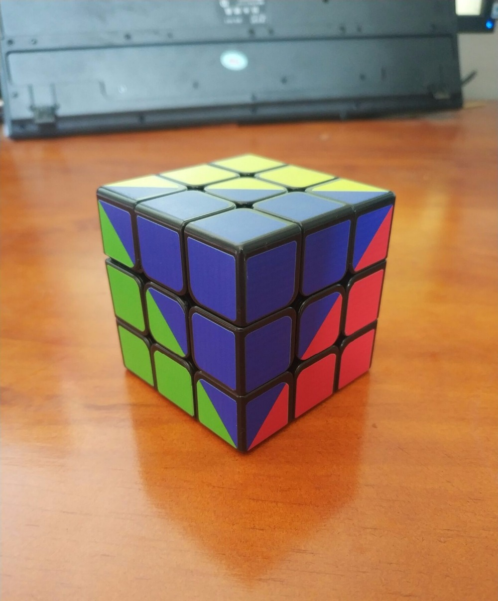 ZCUBE Colorful Sticker 3x3x3 Cube 3x3 Cubing Speed  Professional 3 Player Triangle Shape Twist Educational Kid Toys 5