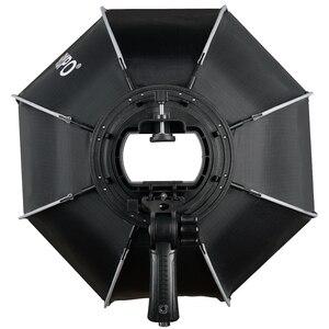 Image 2 - TRIOPO 55cm 65cm 90cm מתקפל אוקטגון Softbox סוגר/Bowns הר רך תיבת ידית עבור Godox Yongnuo speedlite פלאש אור
