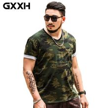 GXXH 2XL-7XL Тактическая Военная камуфляжная Футболка мужская армейская футболка большого размера 4XL 5XL 6XL больше размера d Мужская футболка брендовая одежда