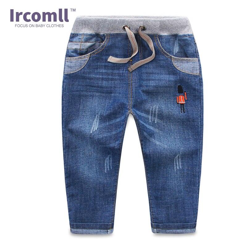 4b3b5d435 2016 Fashion Autumn Summer Boys Jeans Infant Cartoon Soldier Pants Boys  Trousers Children Denim Kids Jeans