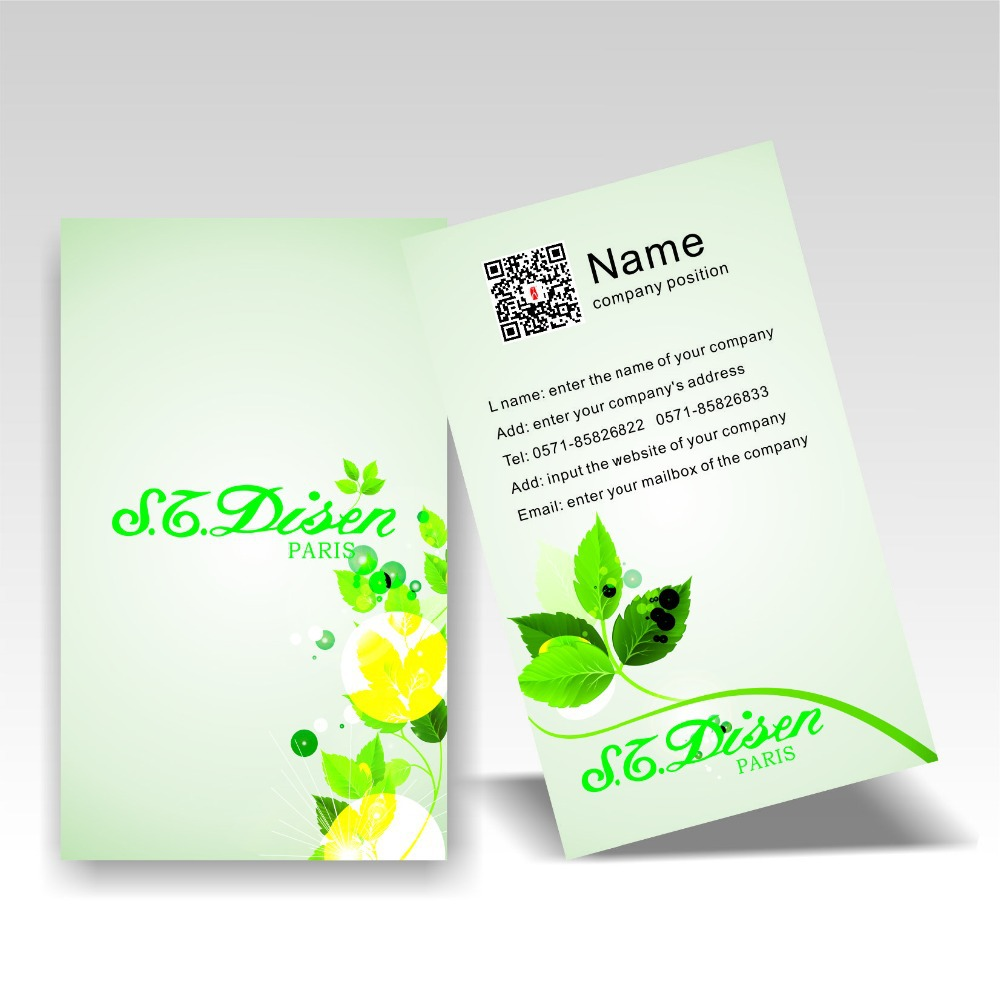 2015 vertical design custom business cards colorful printing two 2015 vertical design custom business cards colorful printing two dimension code 300gsm coated paper fresh style free shipping in business cards from office reheart Choice Image