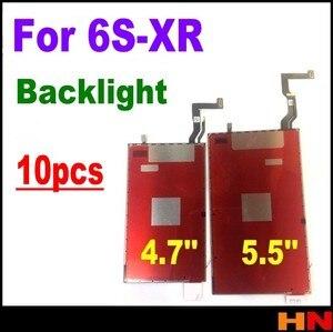 Image 1 - 10 sztuk dla iphone XR 8 8p 6s 7 plus 4.7 5.5 cal nowy wymiana części naprawa LCD 3D dotykowy podświetlenie Film podświetlenie