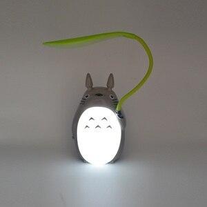 Image 4 - Милая мультяшная лампа Тоторо, 3 варианта, перезаряжаемая настольная лампа, светодиодный ночсветильник для чтения для детей, подарок, домашний декор, светильник ильники