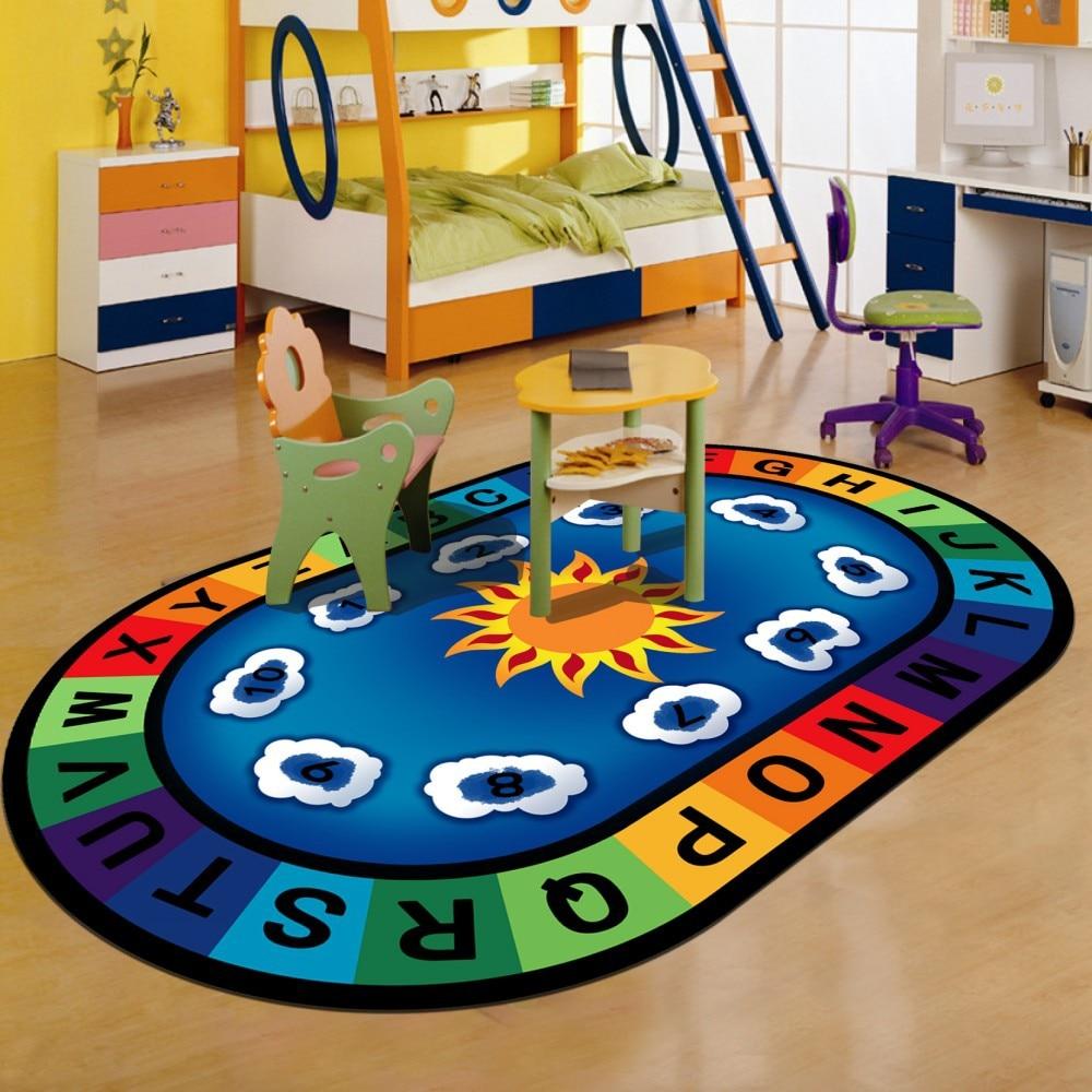 Tapis enfant dessin animé pour salon table à thé chambre tapis plein de chevet décor tapis enfants/bébé jeu ramper grand tapis