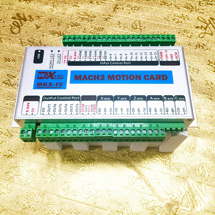Revolutionary 4 Axis Mach3 CNC USB Motion Controller Card 2000KHz Stepper/Servo motor driver used CNC breakout board cnc mach3 usb 4 axis kit 3pcs tb6600 stepper driver mach3 usb stepper motor controller board 3pcs nema17 motor power supply