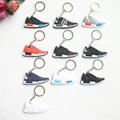 Mix 10pcs/lot New Mini Silicone NMD Key Chain Jordan Keychain Key Ring, Sneaker Keychain Men Key Holder for Woman and Girl Gifts