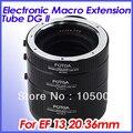 Fotga металлический электронный AF Макро Удлинитель Набор 13 + 20 + 36 мм для Canon eos EF EF-S
