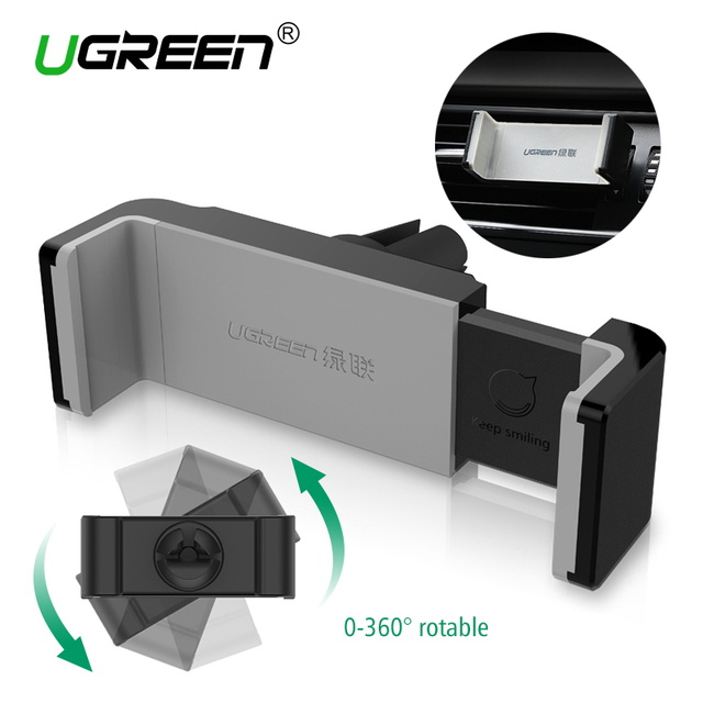 Ugreen Universal Car Phone Holder Air Vent Mount GPS Stand 360 Adjustable Mobile Phone Holder For iPhone 5 6 Plus Samsung S6 HTC