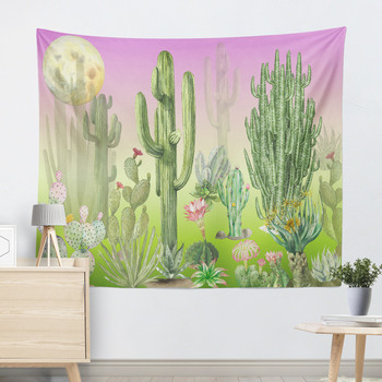 Wall Hanging Cactus Tapestry Cotton Bohemian 200*150cm Cover Beach Towel Throw Blanket Picnic Yoga Mat Home Decoration Textiles 6