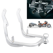 Motorcycle Trailer Hitch Trailer Tow Hook Tow Bar Rear Fender Guard For Harley Electra Road Street Glides Road King 14 19