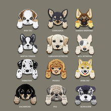 1 Piece Cute Chihuahua Shiba Dog Patch Baby's Clothing Patches Backpack Decoration Small Applique Small Cat Iron On Patch(China)