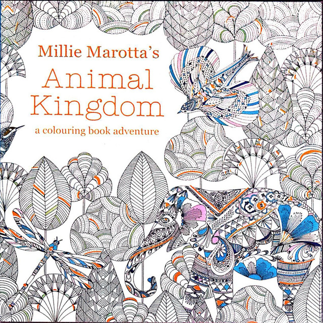 96 Pages Animal Kingdom Coloring Books For Children Adults Painting