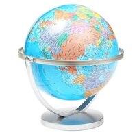 Caliente 20 cm mundo inglés Mapas mundo Globos terráqueos giratoria Mapas de tierra Oficina Decoración Geografía figurines Adornos cumpleaños Navidad regalo
