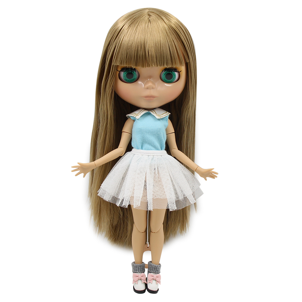 factory blyth doll tan skin joint body straight brown hair BL0662 30cm 1/6 bjd
