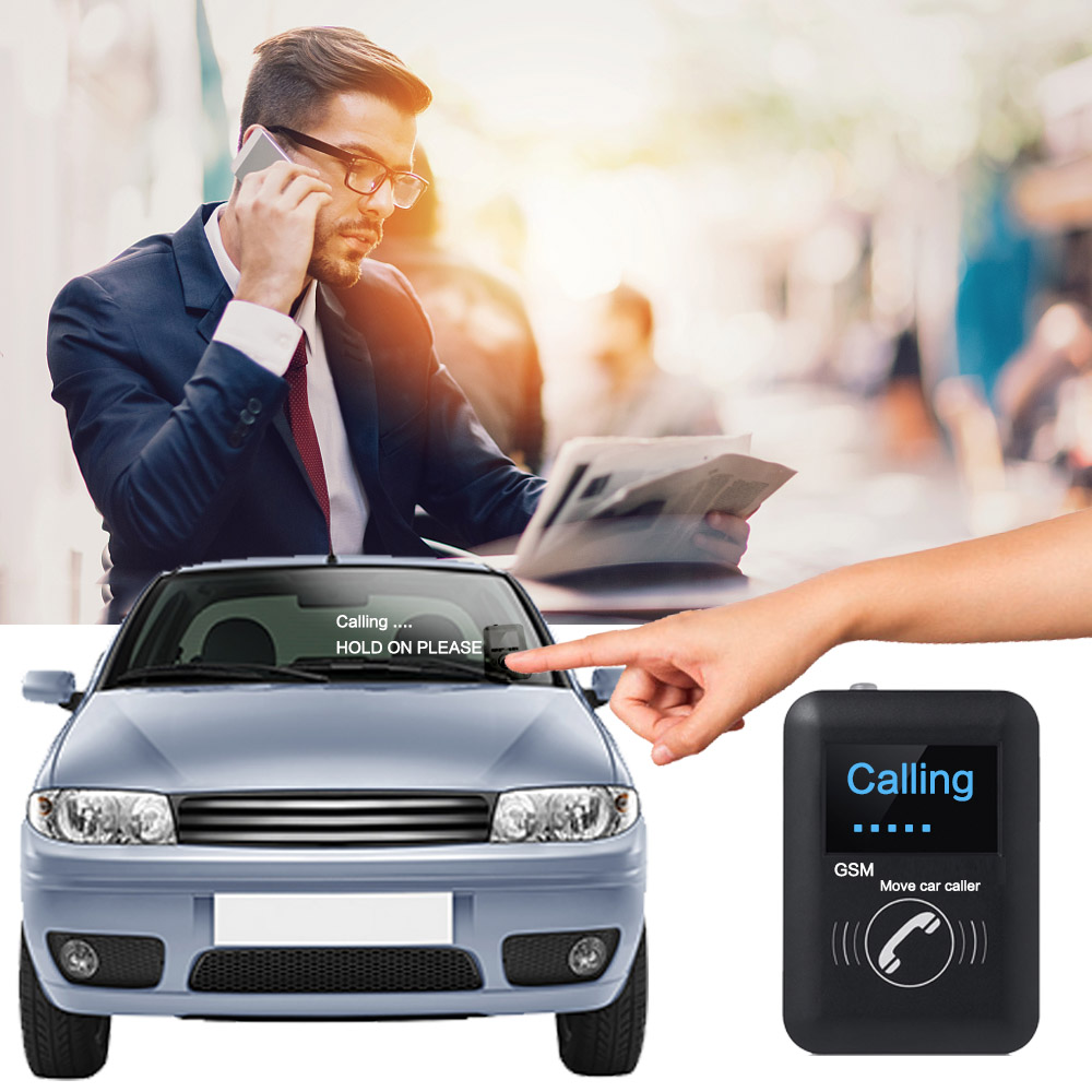 GSM Move car caller pager/Smart Car Communicator/Move car button phone parking car caller цена
