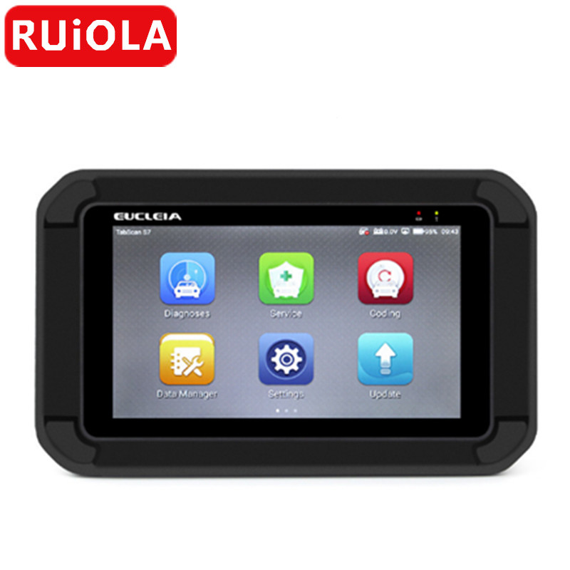 US $301 5 33% OFF|EUCLEIA S7C Automotive Scanner OBD2 Diagnostic Tool Auto  Full System Scanner ABS EPB CVT TPMS Oil Service Reset ABS Bleeding on