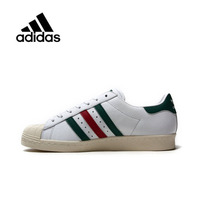 Genuine Adidas Sneakers Originals Sports Red Green Stripe Unisex Skateboarding Shoes Low tops Women Men PU Leather CQ2654