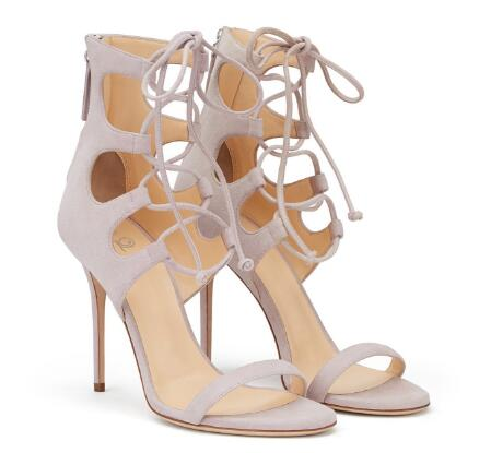 Summer new woman cross-tied open toe high heel sandals Ladies thin heel lace-up shoes High heels Rome shoes Dress shoes karinluna 2018 fashion cross strap high heel platform summer sandals woman open toe heel shoes office date ladies footwear