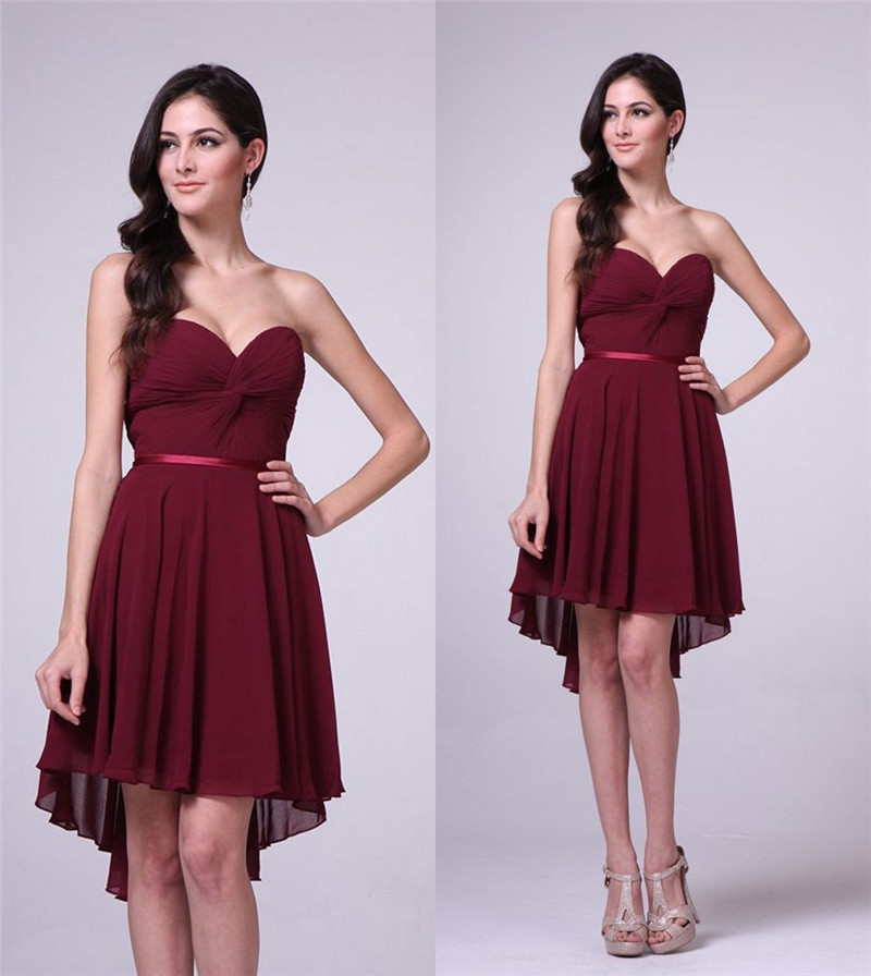 burgundy 8th grade graduation dresses for college 2015