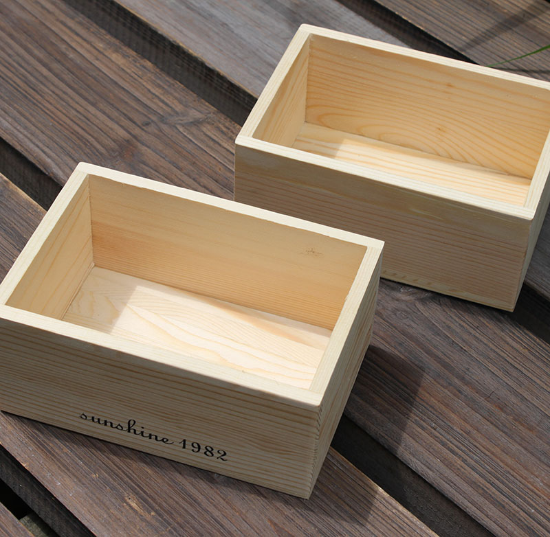 ZAKKA Grocery Style Wooden Box Small Wooden Color Storage Box Vintage Box  Desk Orgainzer