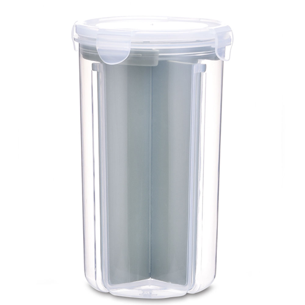 Контейнер для хранения 2,1-3L контейнер для холодильника кухня зерно коллекция Риса контейнер свежий ХРАНЕНИЕ Сбор танк контейнер коробка плотно - Цвет: nordic green