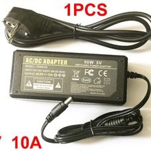 Высокая qualitydc 5 V 10A светодиодный Питание для WS2812B WS2811 LPD8806 WS2801 Светодиодные ленты света, Великобритания, США, ЕС, штепсельная вилка австралийского стандарта