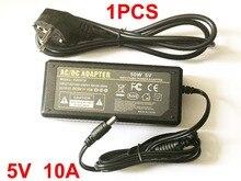 Yüksek qualityDC 5 V 10A LED Güç Kaynağı WS2812B WS2811 LPD8806 WS2801 LED Şerit Işık İNGILTERE, ABD, AB, AU tak