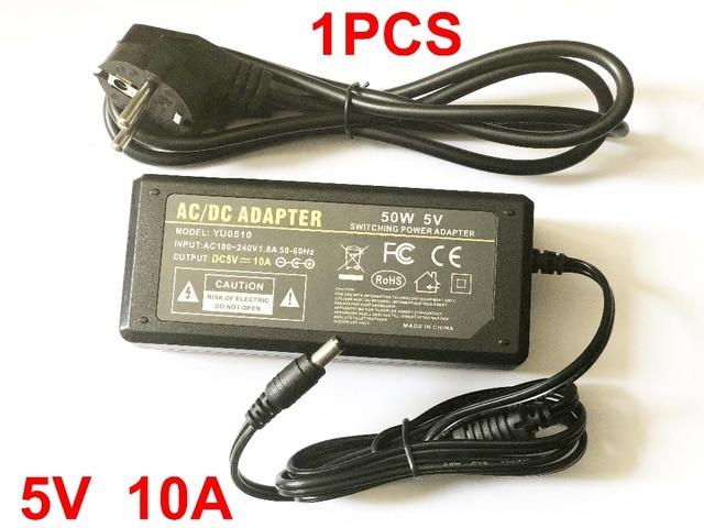 สูง qualityDC 5 V 10A ไฟ led สำหรับ WS2812B WS2811 LPD8806 WS2801 LED Strip Light UK, US, EU, ปลั๊ก AU