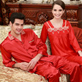 Lover Pajama Sets Silk Pajamas Loungewear Spring Long Sleeve pajama Silk Pajamas Set Christmas Gift L-3XL Suit Red Color