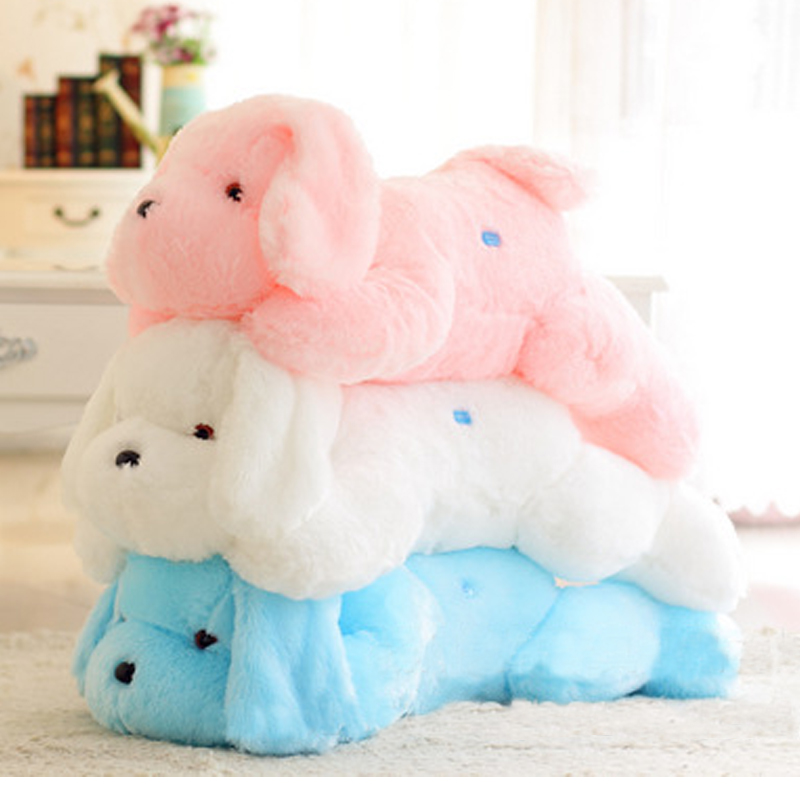 50cm Hot Sale Colorful Luminous Teddy Dog LED Light Plush Pillow Cushion Kids Toy Stuffed Animal Doll Birthday Gift For Child