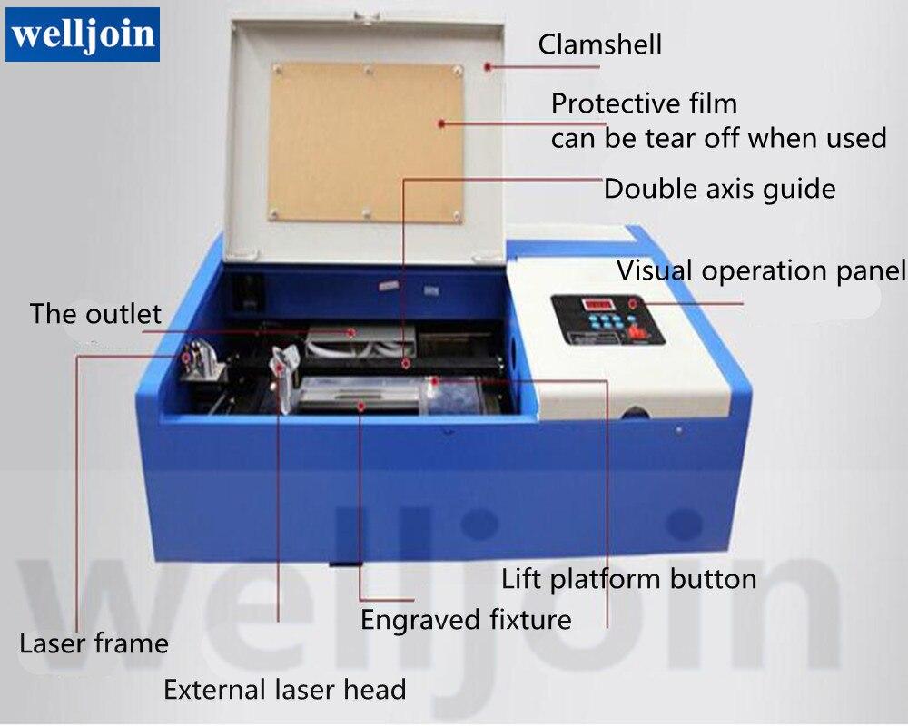 40 W CO2 petits métiers Laser Machine de gravure Laser timbre gravure Machine de découpe GY-320