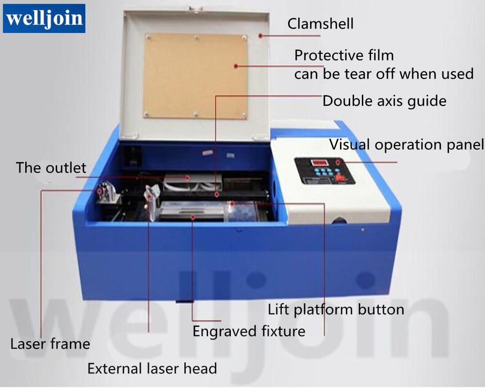 40W CO2 Kleine Handwerk Laser Gravur Maschine Laser Stempel Gravur Schneiden Maschine GY-320