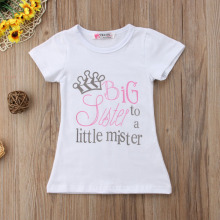 Newborn Baby Little Brother Big Sister Announcement Shirt