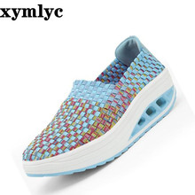 New women's non-slip breathable hollow mesh shoes thick bottom round head casual flat shoes set foot shallow mouth single shoes women s pointed shallow mouth set foot flow threo bow tie knot casual single layer shoes
