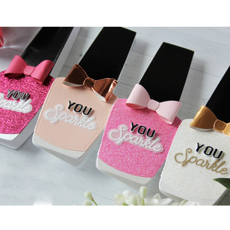Nail Polish bottles Shape Metal Cutting Dies Stencil For Scrapbooking Embossing DIY Paper Card Handcrafts Templates Stamp in Cutting Dies from Home Garden