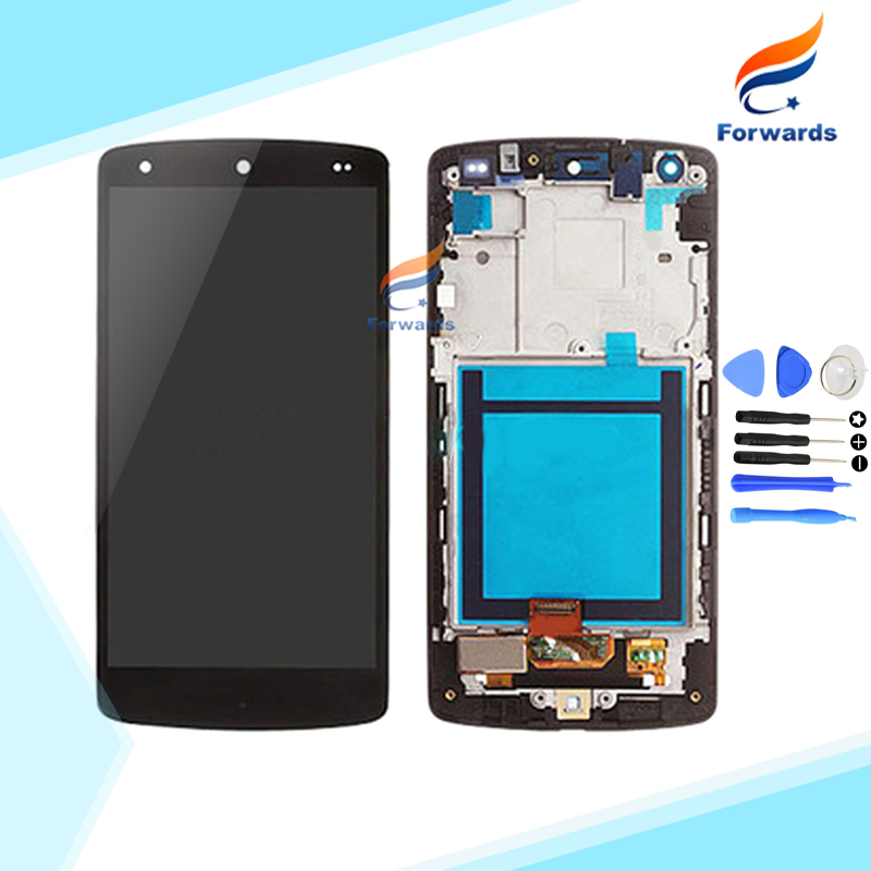 ФОТО 10PCS/LOT DHL EMS free shipping New Tested for LG Nexus 5 D820 D821 LCD Screen Display with Touch Digitizer + Frame Assembly