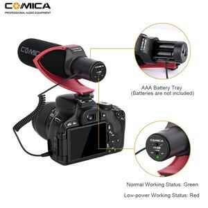 Image 4 - Направленный конденсаторный микрофон Comica V30 PRO для записи интервью, микрофон для цифровой зеркальной камеры Canon, Nikon, Sony (с защитой от ветра)