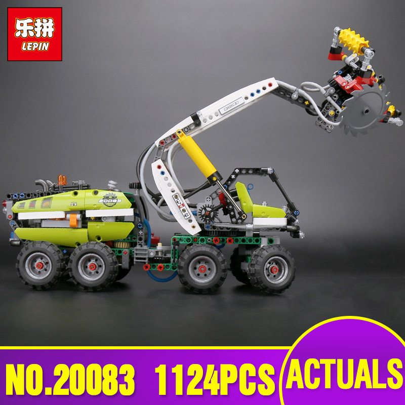 Lepin 20083 Technic Toys The Legoing 42080 Forest Harvester Set Buidling Blocks Bricks Funny Car Model Kids Toys Christmas Gifts
