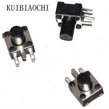 50Pcs nuevo 6x6x7mm ángulo Recto 2 Pin Momentáneo Tact Botón Interruptor Tactil