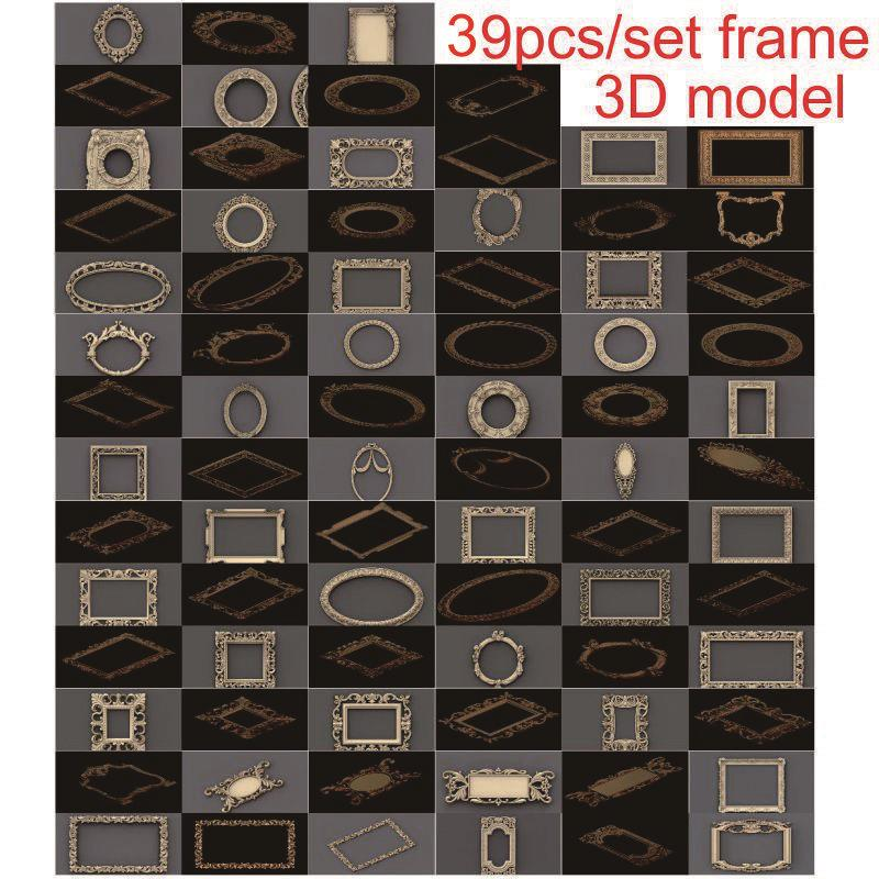 39pcs/set Frame 3d Model STL Relief For Cnc STL Format 3d Model For Cnc Stl Relief Artcam Vectric Aspire