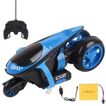 RC دراجة نارية عجلة القيادة الخلفية 360 درجة الانجراف دراجة نارية حيلة لعبة التحكم عن بعد