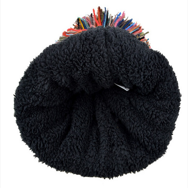 Warm Winter Woolen Hat Ladies Fashion Striped Big Hats Bonnet Women Beanies  And Caps Large Heads Knitted Skullies-in Skullies   Beanies from Apparel ... 932c45332604